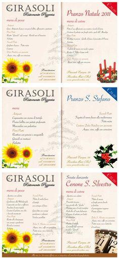 I menù delle Feste - Ristorante i Girasoli di Rosolina Mare - NATALE 2011 e CAPODANNO - Pranzo di Natale, di Santo Stefano e cenone di San S...