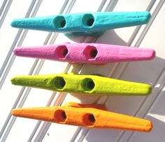 Custom color boat cleat wall hook drawer pull (As by CoconutBeech, $12.00) could be easy DIY