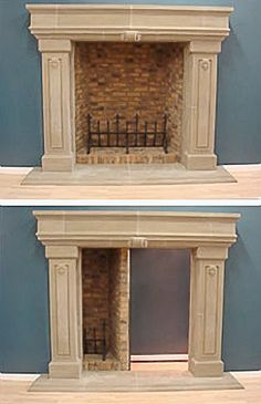 Basement Entry Ideas   But it gets better. How'd you like a secret door in your fireplace ?