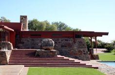 Taliesin West, Scottsdale, Arizona. Frank Lloyd Wright's winter home and studio. 1937