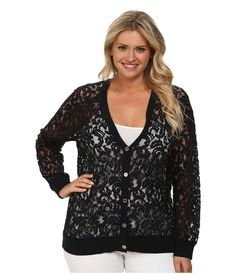Lauren Conrad Cardigan Sweater Size Small Black Lace Top Sheer ...