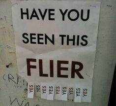 hast du dieses flugblatt gesehen?