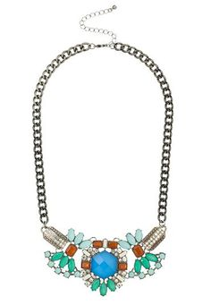 Blue stone cluster statement necklace (original price, $20) available at #Maurices