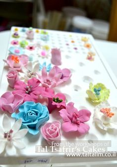 Edible sugar paste flowers - Matokilicious