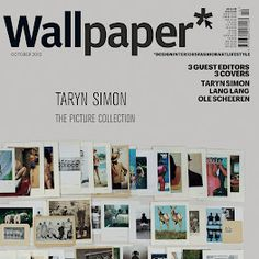 "Wallpaper* October 2012 Taryn Simon Mid-Manhattan Library Picture Collection cover, the subject heading ""Rear Views"". Library Pictures, Gagosian Gallery, Art Beat, Wallpaper Magazine, Picture Collection, Fashion Art, Photo Wall, Typography, Interior Design"