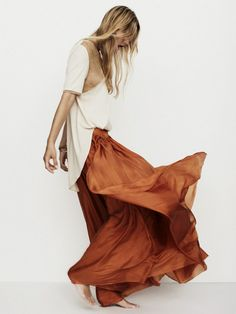Woman's Guilt, brown, skirt, white, top, dress, Women, fashion, style, clothing, outfit, bracelet, summer