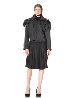 85% OFF Vera Wang Women\'s Jacket with Detachable Hood (Charcoal)