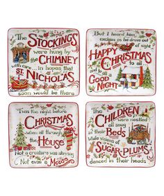 Look at this #zulilyfind! The Night Before Christmas Canape Plate - Set of Four #zulilyfinds