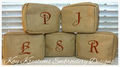 #Monogrammed #toiletry-bag-juco-material-khaki-shaving  Kay Kreations Embroidery Designs  Kaykreations.2012@gmail.com