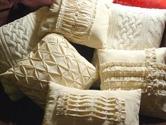 French Lingerie Style Muslin Pillows