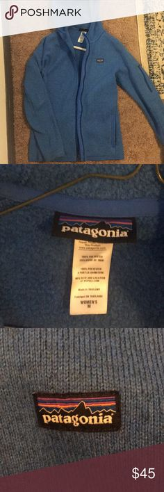 Patagonia Better Sweater, size M, lightly used Blue, Patagonia better sweater, with hood, lightly worn, size M Patagonia Jackets & Coats Utility Jackets