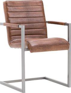 eetkamerstoel Sturdy, in hand ingewassen leder cognac-kleur, 239,- >> nu 6e stoel gratis op alle uitvoeringen van eetkamerstoel Sturdy!