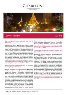 Myanmar Highlights - 19 June 2015 - Gap Inc. triples Myanmar output in first year of production