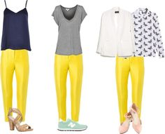 What to wear with yellow pants