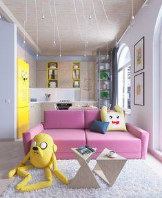 Bright Homes In Three Styles: Pop Art, Scandinavian, And Modern
