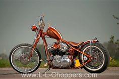 """Gerard Treasure"" Harley-Davidson XL Sportster rigid by L & L Choppers   Netherlands"