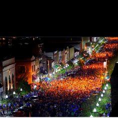 Lawrence, Kansas---Mass. Street mayhem after the Jayhawks beat OSU to go to the championship!!! Rock Chalk!
