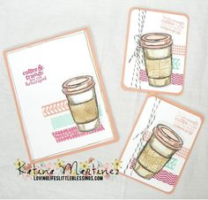 A Perfect Blend - A super cute card and then 3x4 journaling cards from my Project Life Album.