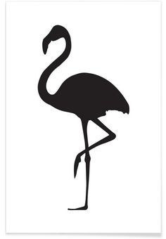 Flamingo als Premium Poster von Honeymoon Hotel Silhouette Painting, Animal Silhouette, Silhouette Cameo, Silhouette Portrait, Flamingo Tattoo, Flora Und Fauna, Honeymoon Hotels, Vinyl Projects, String Art