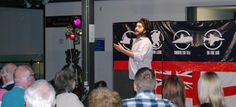 """Comedian Rhys Mathewson performing as part of the """"Great Big Submarine Comedy Night Out"""""""