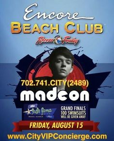 Madeon at Encore Beach Club Las Vegas Friday August 15th. Contact 702.741.2489 City VIP Concierge for Cabana, Daybed, Bungalow Reservations and the BEST of Las Vegas Pool Parties!!! #EncoreBeachClub #VegasPoolParties #LasVegasPoolParties #VegasCabanas #CityVIPConcierge CALL OR CLICK TO BOOK www.VegasCabanas.com