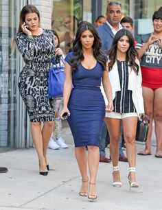 Khlo, Kim, and Kourt looking perfect in SoHo.