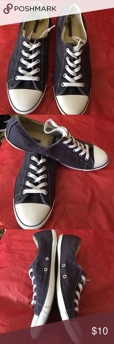 Women Converse Blue women converse, very unique with thin platform for light comfort. Size 9. Great to wear with shorts, pants , capris and skirts. Converse Shoes Athletic Shoes