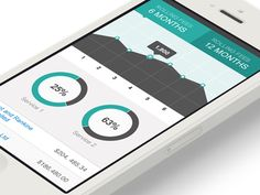 Mobile Accounting iOS app design found on Dribbble.