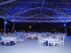 iluminación carpas tipo hangar