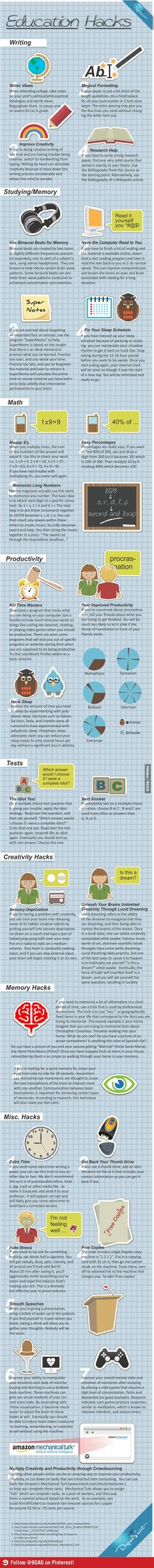 Great hacks for life... if only someone told me at the START of uni