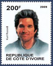 Kurt Russell could escape from New York, but not from this fantastic postage stamp art! Postage Stamp Mint Unused MNH 2009