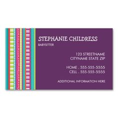 164 Best Babysitting Business Cards Images In 2019 Business Cards