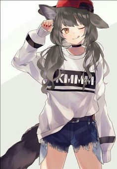 Dark Anime Wolf Girl with Headphones - Bing images Kawaii Anime Girl, Anime Girl Neko, Anime Wolf Girl, Manga Kawaii, Cool Anime Girl, Chica Anime Manga, Beautiful Anime Girl, Manga Girl, Anime Girls