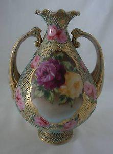 nipon vases | ... about BEAUTIFUL ANTIQUE NORITAKE NIPPON HAND PAINTED BEADED VASE #2