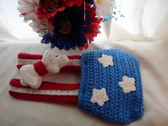 Crochet Baby Fourth of July Suspenders and Bow Tie by crafthappenz, $30.00