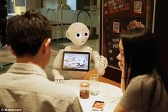 Humanoid robot ¿Pepper¿ will soon be taking orders in Pizza Huts in Asia. MasterCard annou...
