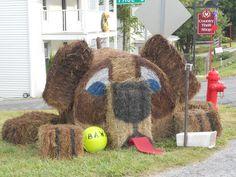 Hay Bale Decor - Dog