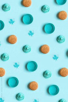 Deconstructed cupcake background by Ruth Black for Stocksy United