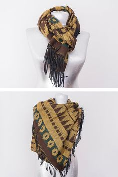Men Scarf Man Scarf Winter Scarf Autumn Scarf Men Accessory For Him Birthday Gift Christmas Gift Blue Scarf Thick Scarf Tribal Scarf Brown