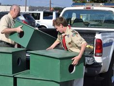 Boy Scout helps to create houses to give feral cats shelter for winter | GoUpstate.com