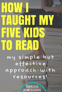 How I taught my five kids to read, with simple and effective resources included! Helping your kids learn to read isn't difficult, expensive or scary. Read on to find out how i've taught my five kids to read. Teaching Child To Read, How To Teach Kids, Teaching Reading, Fun Learning, How To Teach Reading, Learning Activities, Reading Help, Toddler Learning, Preschool Learning