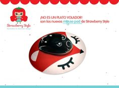 Mouse Pad Minimal Fox * Strawberry Style Shop * Feria Central