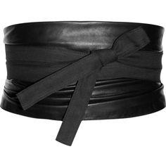 Maison Martin Margiela Leather and canvas obi belt ($550) ❤ liked on Polyvore