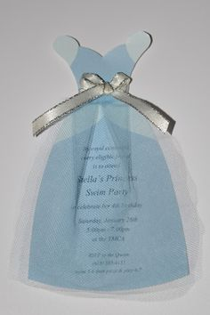 Cinderella Dress Invitation                                                                                                                                                      More