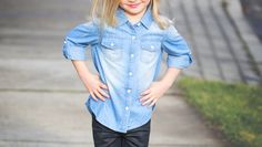 Offset Girl's Denim Shirt