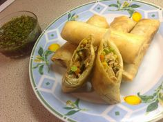 This Muslim Girl Bakes: Lamb Mince Samosa Filling Spring Roll Pastry, Vegetable Spring Rolls, Indian Food Recipes, Ethnic Recipes, Curry Dishes, India Food, Stuffing Recipes, Chicken And Vegetables, How To Cook Chicken
