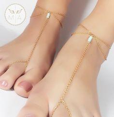 TOBILLERA CON MURANO AZUL Delicate, Bracelets, Jewelry, Fashion, Anklet, Chains, Steel, Rocks, Colombia