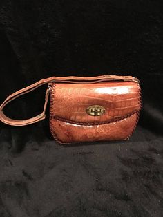 """85699cd8bc4d Lois Tbags · MINT condition from the 1940 s stamped """" Eduardo """" authentic  alligator made in Florida """" clutch"""