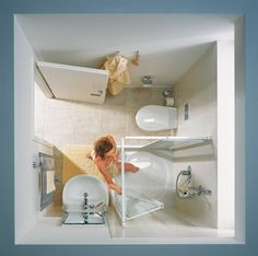 Interieurideeën  Badkamer idee voor kleine badkamer Door Inge88