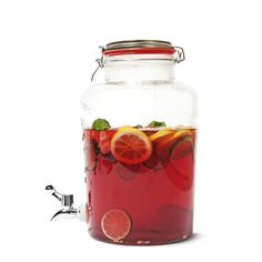 Perfect for serving up fruit cocktail! From Tiger Stores UK for picnic themed wedding decor! Or just picnics in general! Flying Tiger Copenhagen, Tiger Store, Picnic Foods, Drink Dispenser, Picnic Time, Milk And Honey, Served Up, Impreza, Summer Recipes